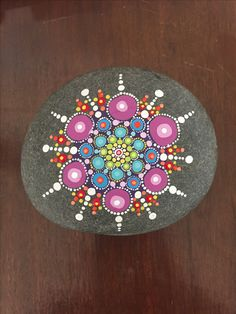 If you would like to buy this rock, go to my Etsy page! MandalaArtbyElli