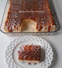 Bu tarif tam tadında tam ayarında harika oluyor Hem çok hafif hem de gayet kolay bir tatlı Kekinin ıslaklığı karameli çok lezzetli..
