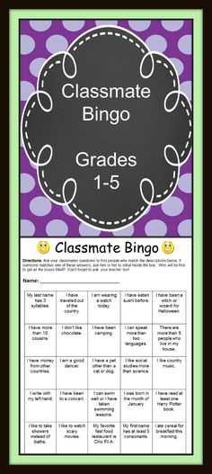 Visit our Teachers Pay Teachers store for this start of the year bingo activity and for many other great resources! This is a great way to introduce classmates to each other at the beginning of the school year! This FREE activity includes a bingo board for both primary and elementary grades. A blank bingo board is included to differentiate this activity for your own class.