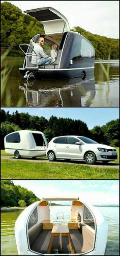 Camping Glamping, Camping Hacks, Truck Camping, Outdoor Fun, Outdoor Camping, Kombi Trailer, Trailers, Combi Wv, Materiel Camping
