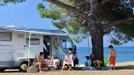Strände auf dem Campingplatz Valkanela, Vrsar, Istrien, Kroatien,