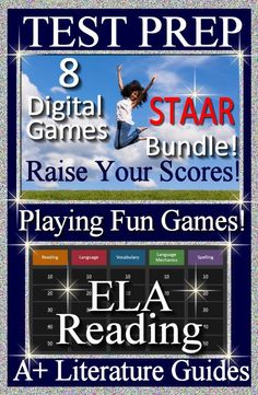 STAAR Reading - ELA This is a bundle of 8 ELA Reading Test Prep games for PowerPoint. Raise your standardized test scores by playing fun games! Jeopardy style PowerPoint Games. Also helpful for: AIMS CST CAT CSAP FCAT SSI CRCT EOCT GHSGT GAA IES TERRA NOVA HSA ISAT ITBS ISAT IST CCSS CAS MEA MSA MCAS MEAP ELL MCAII MCT NESA NECAP NJASK PSSA NECAP PASS STEP TCAP TAKS SDAAII HSPE WESTEST WKCE WKCE PAWS LEAP AIMS CSAP FCAT NAEP ISAT MEAP NJASK ELA Common Core NECAP STEP TCAP MSP WKCE PAWS CCSS