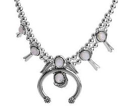 American West Sterling Choice of Color Squash Blossom Necklace