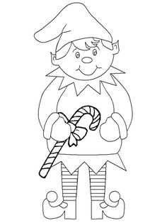 Print Christmas # Elf Coloring Pages coloring page & book. Your own Christmas # Elf Coloring Pages printable coloring page. With over 4000 coloring pages including Christmas # Elf Coloring Pages . Coloring Pages To Print, Free Printable Coloring Pages, Coloring Book Pages, Coloring Pages For Kids, Kids Coloring, Free Coloring, Adult Coloring, Christmas Elf, Christmas Colors