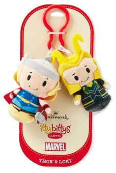 Sibling rivalry takes on a whole new meaning with Thor and Loki. itty bittys® Clippys come in pairs so you can share or trade them with friends. Plus, they're just the right size to clip on a backpack, belt, purse strap or wherever you want them to tag along. Pick up this fun kids' gift at Hallmark!