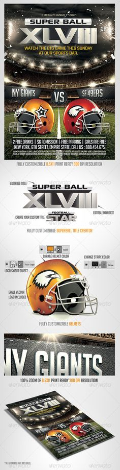 American Football Flyer Template | American Football, Flyer