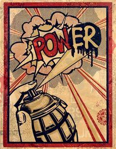 Power, 2011 - HPM By Shepard Fairey