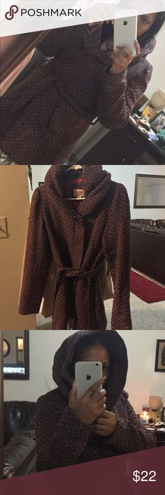 Wool like multi color coat w/ hood I wear last year a lot in Michigan weather ☃️ and it kept me warm! I got a lot a compliments on this wool-like coat.  Cool style Mossimo Supply Co. Jackets & Coats