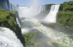 Iguazu Falls, Argentina Situated on the border of Brazil, Paraguay, and Argentina, the Iguazu Falls is one of the great natural wonders of the world.