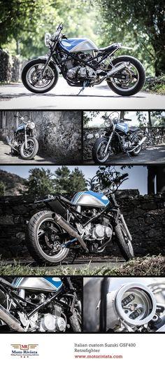 #Italian custom #Suzuki GSF400 #motorcycle Retrofighter ~ featured on www.motorivista.com
