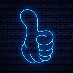 Neon sign thumb up vector image on VectorStock Funny Phone Wallpaper, Neon Wallpaper, Neon Light Signs, Led Neon Signs, Banner Do Youtube, Certificate Design Template, Light Tattoo, Neon Words, Youtube Channel Art