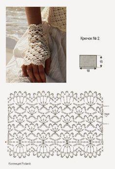 Crochet Gloves Patterns Part 1 - Beautiful Crochet Patterns and Knitting Patterns Crochet Gloves Pattern, Crochet Diagram, Crochet Chart, Crochet Stitches, Crochet Patterns, Mittens Pattern, Crochet Diy, Mode Crochet, Blog Crochet