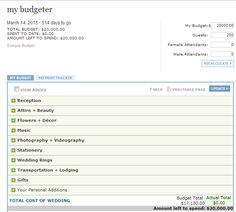 Best Wedding Budget Calculator - Citt? di creativi sogni