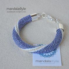 "Handmade bead crochet ""marshmallow"" bangles!"