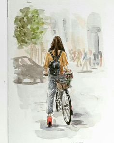 Ideas travel illustration watercolor artists for 2019 Watercolor Plants, Watercolor Artists, Watercolor And Ink, Watercolor Ideas, Watercolor Paintings Tumblr, Art Paintings, Plant Painting, Plant Drawing, Painting & Drawing