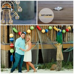 Engagement Session // Observation Wheel // Pensacola Beach // Kate's Captures Photography