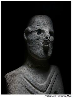 Gobekli Tepe, Human like Statue discovered at the site is estimated to be 12,000 years old, if not older.