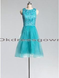 Off Shoulder Custom Junior A Line Affordable Blue prom dress with Appliques
