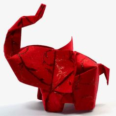 The origami elephant. I just learned how to fold this!