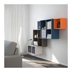 IKEA - EKET, Wall-mounted cabinet combination, multicolor, , An asymmetrical storage solution that becomes personally yours when filled with your belongings.