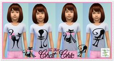 Tee shirt Chat Chic - Luna Sims