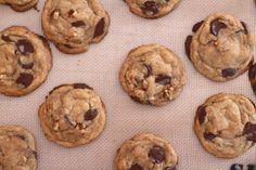 browned butter chocolate chip cookies with pecans-- Rechele's recipe!  So delicious, tastes like caramel.