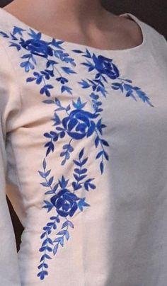 Hand Embroidered kurti.