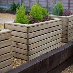 Buy Linear Wooden Planters by Forest Garden — The Worm that Turned – revitalising your outdoor space - Modern Garden Planter Boxes, Wooden Garden Planters, Tall Planters, Square Planters, Outdoor Planters, Diy Planters, Long Planter Boxes, Planter Des Roses, Wooden Flower Boxes