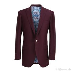 Dark Red Suit, Mens Suits, Custom Made, Suit Jacket, Blazer, Jackets, Fashion, Dress Suits For Men, Down Jackets