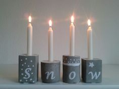 Advent Deko aus Beton von Beton and more auf DaWanda.com