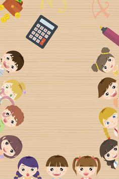 Exam Wallpaper, Cartoon Wallpaper, Iphone Wallpaper, Kids Background, Cartoon Background, Back To School Wallpaper, Student Exam, Instagram Editing Apps, Creative Circle