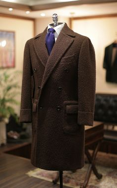 Casentino Brown Double-Breasted Coat