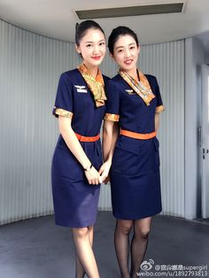 Two Men, Cabin Crew, North Korea, Flight Attendant, These Girls, Two By Two, Dresses For Work, Air Lines, Qingdao