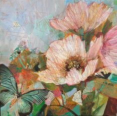Still Life Art, Wildflowers, Sally, Roses, Collage, Paintings, Deep, Canvas, Floral