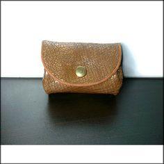 Petit porte monnaie Femme en cuir souple - Porte monnaie en cuir mordoré 27bea81c888