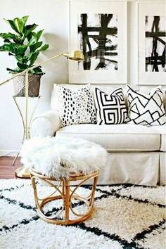 Scene-stealing decorative accents make this living room one chic space.