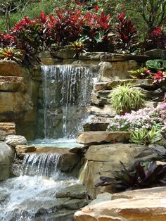 Backyard Ponds and Waterfall . Backyard Ponds and Waterfall . 53 Relaxing Small Front Garden Design Ideas with Waterfall Koi Pond Design, Landscape Design, Garden Design, Waterfall Design, Garden Waterfall, Backyard Water Feature, Ponds Backyard, Backyard Waterfalls, Waterfall Features