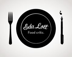 food logo- cute way to add the pen with the place setting