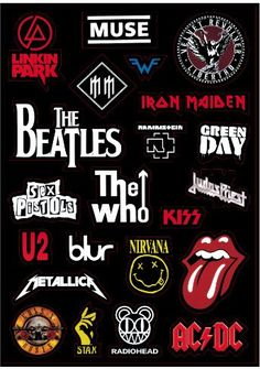 This item is unavailable Rock Band Stickers, Rock'n'Roll Sticker, Laptop Sticker, Suitcase Sticker, Skateboard Sticker Rock Band Posters, Rock Band Logos, Rock Poster, Rock Bands, Band Stickers, Car Bumper Stickers, Laptop Stickers, Logo Stickers, Stickers Online