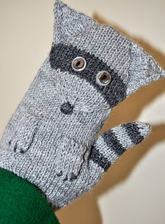 Ravelry: Project Gallery for Rascal Raccoon Mitts pattern by Alison Stewart-Guinee