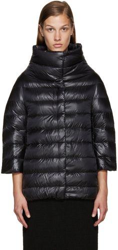 Herno - Black Nylon Cocoon Down Jacket