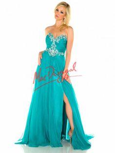 Teal Prom Dress | Plus Size Dress | Mac Duggal 65057F