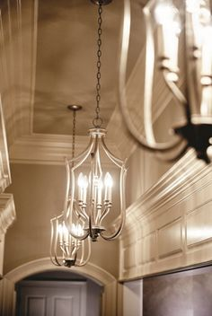 brushed nickel foyer chandelier