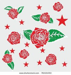Flower Vector Art, Tattoo Graphic, Free Vector Graphics, Rose, Romantic, Graphic Design, Abstract, Retro, Drawings