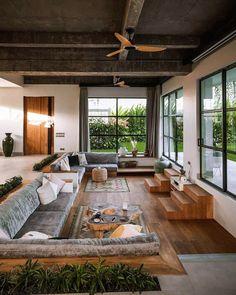 Loft Interior, Wood Interior Design, Interior Architecture, Interior And Exterior, Exterior Design, Design Interiors, House Bali, Dream Home Design, House Design