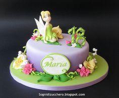 Tinkerbell cake top tier @Keenon Daniels Hi Hirst