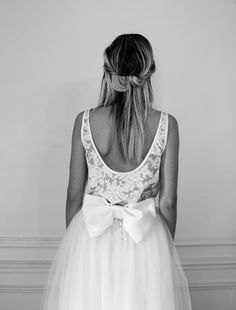 "Wedding dress, retro, vintage, style, ♡… Cécile + Fleur by ""Elise Hameau"" Wedding Bows, Best Wedding Dresses, Wedding Bride, Elise Hameau, Wedding Trends, Wedding Ideas, Just Married, Beauty Women, White Lace"