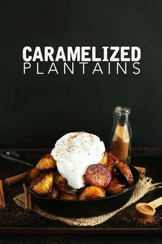 AMAZING 15-minute Coconut Sugar Caramelized Plantains! A healthier #vegan #glutenfree dessert!