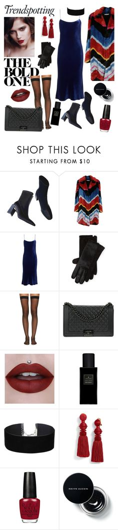 """""""Untitled #76"""" by haylee0110 on Polyvore featuring Alice + Olivia, TIBI, Polo Ralph Lauren, Wolford, Chanel, Yves Saint Laurent, Miss Selfridge and Oscar de la Renta"""