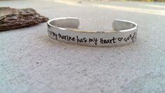 Marine Wife Bracelet  Marine Girlfriend by SweetAspenJewels, $21.00